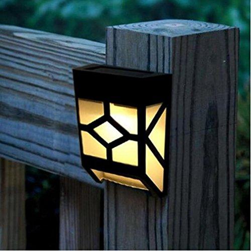 Solar-Deck-Lichter Wand-Montage Wasserdichte Licht-Sensor Nachtlicht Lampe Outdoor-Beleuchtung für Gartenzaun Treppen Schritte Patio Teich Pool (Leistung: 0.55W Spannung 3.7V)