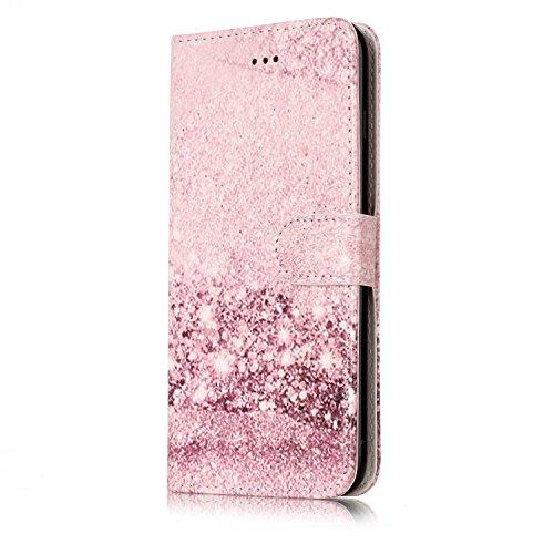 EKINHUI Case Cover Für Apple IPhone 7 Plus Horizontale Flip Case Cover Luxus Blume / Marmor Textur Premium PU Leder Brieftasche Fall mit Magnetverschluss & Halter & Card Cash Slots ( Color : B ) E