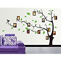 Oren Empower 'Decorative Tree' Wall Sticker with Photo Frames (PVC Vinyl, 170 cm x 120 cm, Brown)