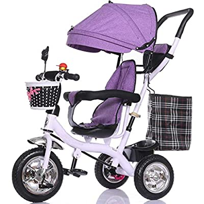 YC electronics Sillas de Paseo Carro Triciclo Multifuncional para niños 1-3 - 5 años de Edad Bicicleta Bebé Bicicleta Bebé Coche Sillas Ligeras
