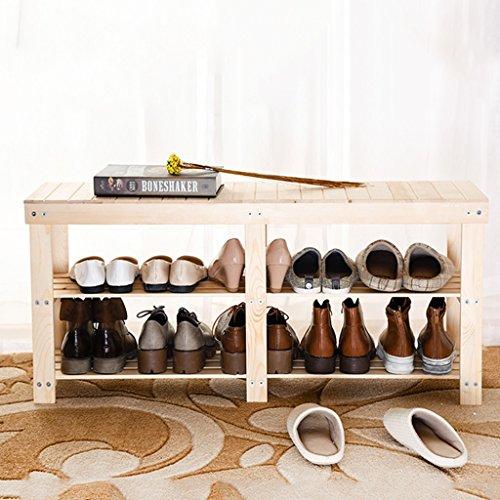 Meubles à chaussures Tabouret de Support de Chaussure de Salon Coffret de Chaussure de poussière de Bois Solide Support de Chaussure de Remplacement à la Maison (Size : 80X26X45CM)