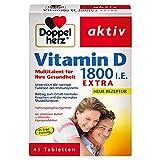 Doppelherz Vitamin D 1800 I.E. Tabletten / Nahrungsergänzungsmittel mit Vitamin D zur Unterstützung der normalen Funktion des Immunsystems / 1 x 45 Tabletten