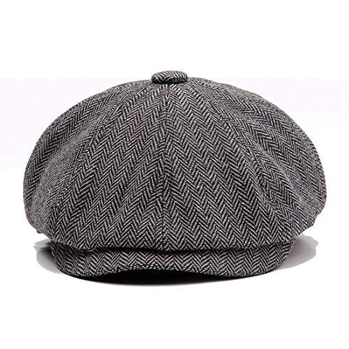 1f2f6ac5959bf KeepSa -Sombreros Gorras Boinas Newsboy Hat Wool Felt Simple Gatsby Ivy Cap  …