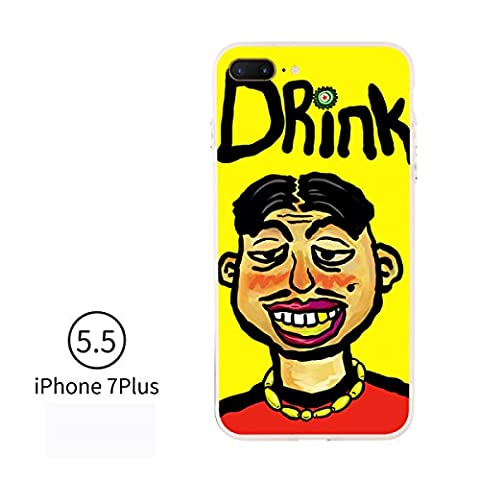 IPhone 7 Plus Fall IPhone 6 Fall Europa-Art Vereinigte Staaten Art Personalphone Iphone7 Fall Kreativer Silikon-Schutz-Handy-Fall,DrinkUncle-iPhone7Plus
