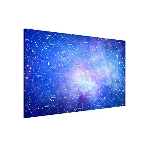 Bilderwelten Tableau magnétique - Constellation Sky Map - Format paysage 3:2, Plaque magnétique tableau magnétique peinture mural décoration magnétique tableau liège tableau aimanté cuisine bureau, Dimension: 40cm x 60cm