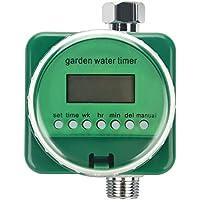 Fdit Temporizador de Riego Automático Controlador de Riego Electrónico Sensor de Lluvia Pantalla LCD de Jardín Socialme-EU