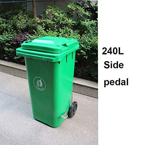 Cubos de Basura al Aire Libre 120 litros / 240 litros Tipo de Pedal de plástico Grande, saneamiento...