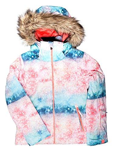 Roxy Damen Girl JK Jet Ski-Snow Jacket 8-16, Mehrfarbig(Emberglow), 14/XL