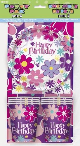 s Partyset Happy Birthday 25teilig mit Teller Becher Servietten Kindergeburtstag Einweggeschirr ()