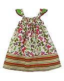 SSMITN Girls' Dress(SK2215_8-9Y, Green, ...
