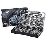 Wukong Schraubendreher Set Reparatur, 73 in 1 Magnetisch Feinmechaniker Schraubenzieher Bit mit hohe Präzision Schrauber bit set für Elektronik, Smartphone, Tablet PC, Laptop, Gläser, Kamera, Uhren