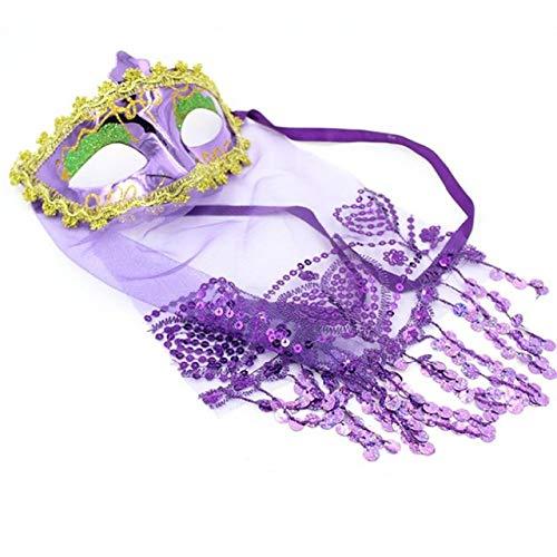 Ägyptische Prinzessin Frauen Kostüm Ägyptischen - MASKUOY Halloween-Maske Spitzenschleier Maske Hochzeit Karneval Party Performance Kostüm Mode Ägyptische Prinzessin Lady Mask Masquerade