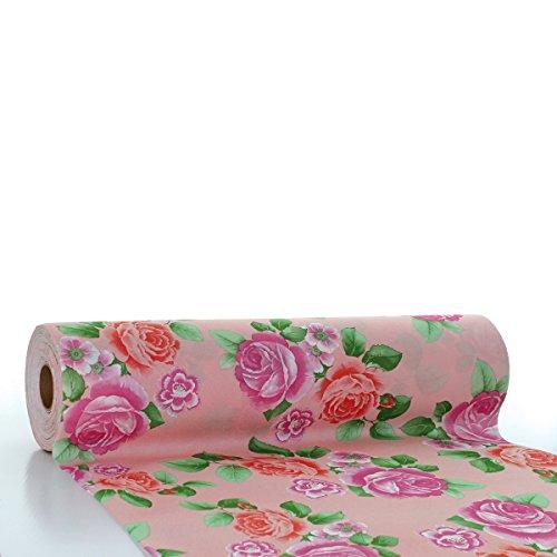 �ufer ROSEMARIE / Linclass® Airlaid Tischläufer 40cm x 24m / Tischdecken-Rolle stoffähnlich / Einmal-Tischdecke für Hochzeit & Partys Rosa ()