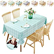 Waterproof Tablecloth,Oilproof, Wipeable,Stain-Resistant PVC Table Cloth,Wipe Clean Table Cover for Dining Tab