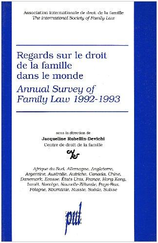 Regards sur le droit de la famille dans le monde : Afrique du Sud, Allemagne, Angleterre...