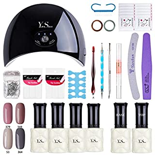 YaoShun Gel Nail Polish Starter Kit With 24W LED Nail Lamp Base Top Coat Set And Manicure Tools Nail Art Home Use Kit #3
