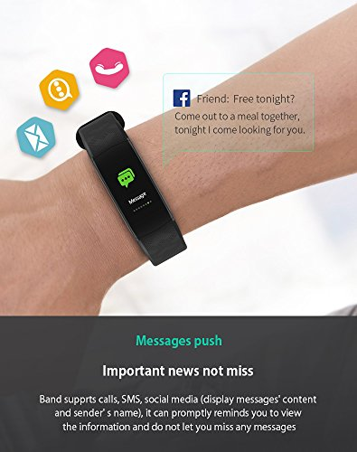 montre connect e bracelet connect podom tre poignet fitness tracker d 39 activit cardio etanche. Black Bedroom Furniture Sets. Home Design Ideas