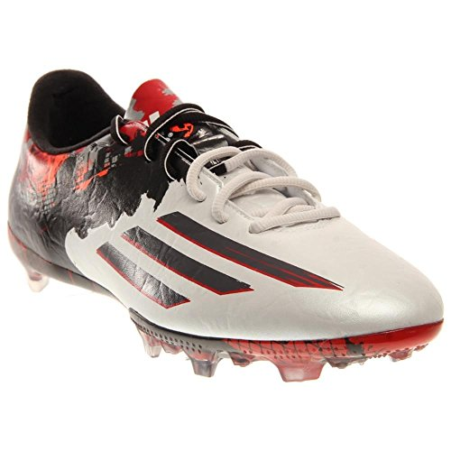 Adidas Messi 10,2 Fg FuÃ?ballschuh WeiÃ? / Scharlachrot 8 White, Black, Red