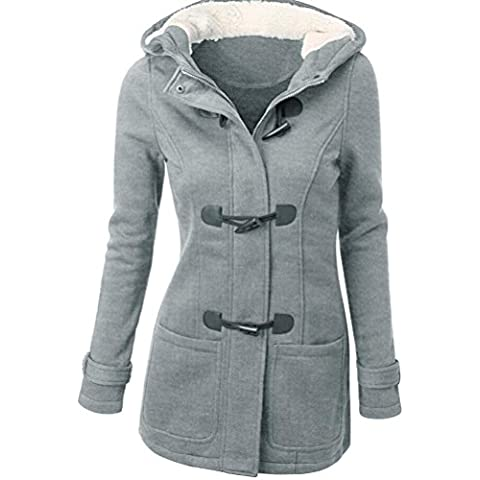 Cappotto Donna, Reasoncool Fashion Women Windbreaker Outwear Warm Wool Slim Long Coat Jacket Trench