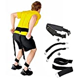 Gymforward Bounce Trainer Set Jumping Band Leg Strength with Carry Bag, Black-50Pounds by Gymforward