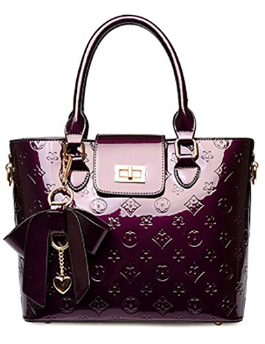 Oruil, Borsa a mano donna, Black (Nero) - Tw23 Purple