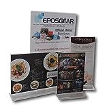 25 x EPOSGEAR A5 Querformat Klar Plexiglas Acryl Doppelseitige Zweiseitiger Display-Ständer Plakataufsteller Werbeaufst