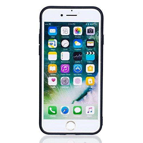 iPhone 7 Coque, Voguecase TPU avec Absorption de Choc, Etui Silicone Souple, Légère / Ajustement Parfait Coque Shell Housse Cover pour Apple iPhone 7 4.7 (papillon d'or 01)+ Gratuit stylet l'écran alé Panda 08