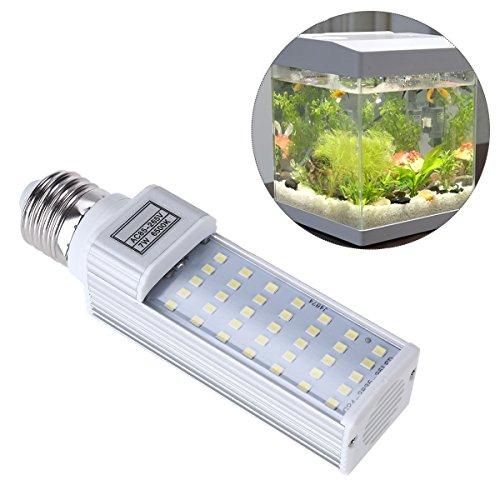 UEETEK UEETEK 7W E27 LED Energiesparlampe für alle Fisch Pod und Fisch Box Aquarien (weiß)