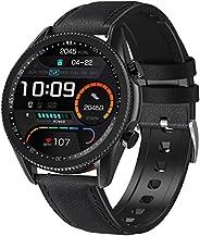 ANSUNG Smartwatch Chiamate Bluetooth,Orologio Fitness UomoTracker Cardiofrequenzimetro Orologio Fitness Activi