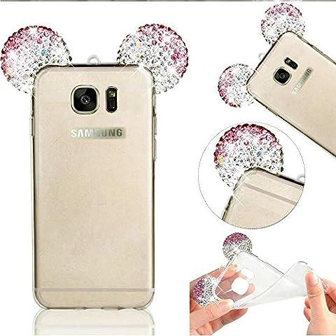 Galaxy S7 Edge Hülle, MOMDAD Transparent Diamant Bling Glänzend Schutzhülle