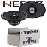 Hertz DCX 460.3-10cm x 15cm (4x6 Zoll) Oval Koax Lautsprecher - Einbauset für Ford Maverick 2 Front Heck - JUST SOUND best choice for caraudio