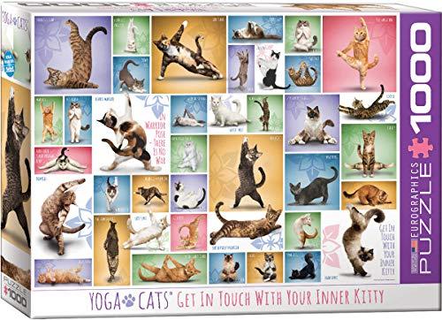 Eurographics 15.240-2.420,6cm Yoga-Katzen Puzzle (1000Teile)