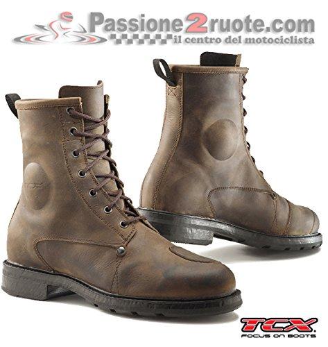 Scarpe stivaletto uomo moto Tcx X-blend Waterproof vintage brown 44