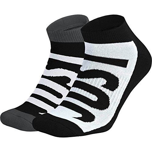 Calcetines Nike – Sportswear No-Show (2 Pair) negro/blanco/carbón talla: 42 al 46 EU I 8-12 USA I 8-11 UK