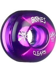 BONES WHEELS Clear Purple Skatepark Formula Wheels, 55mm