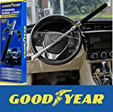 Goodyear GY900160 Heavy Duty Steering Wheel Lock with Emergency Glass Breaker and 2