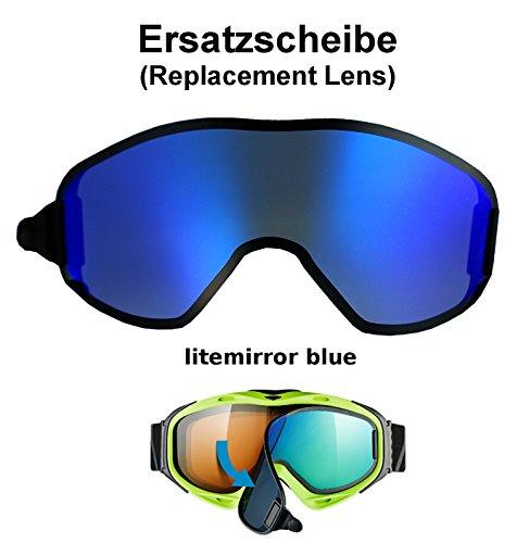 uvex g.gl. 300 & uvision TO off ess Ersatzscheibe für Skibrille g.gl300 als take off - single lens litemirror blue