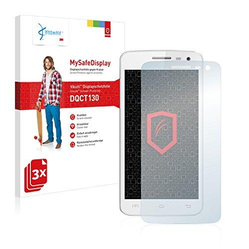 Vikuiti DQCT130 Elephone G3 Schutzfolie von 3M [3er Set] kristallklare Displayschutzfolie Folie Displayfolie