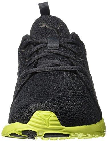 Puma Carson, Baskets Basses Mixte Adulte Noir (Asphalt/Safety Yellow)