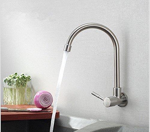 UHM parete in nichel spazzolato rubinetto cucina becco orientabile lavello in acciaio inox rubinetto