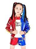 (Schnitte S) Harley Quinn Kostüm für Kinder Karneval Halloween Cosplay Suicide Squad Film Idee Geschenk kleine Mädchen