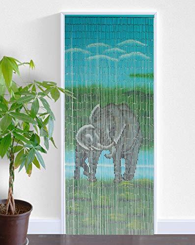 ABC Home Living Türvorhang | Insektenschutz | Fliegenschutz | Raumteiler, Bambus, Mehrfarbig, 2.2 x 90 x 200 cm