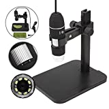Digital Cameras Best Deals - GVESS 1000X 8 LED 2MP USB stand Digital Microscope Magnifier dell'endoscopio Camera + Ascensore