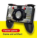 #1: Eshion Mobile Game Controller L1R1 Trigger Ergonomic Gaming Grip Joystick Move Buttons for Android iOS Phones PUBG Upgrade Version