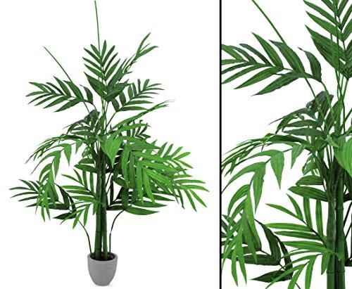 Areca Palme, Deko Palme mit breiten Textil Wedeln, Höhe 230cm – Kunstpflanzen künstliche Palmen