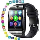 CITW Bluetooth Smart Watch Männer Mit Touchscreen Große Batterie Unterstützung TF SIM Karte Kamera Für Android Phone Smartwatch,Black