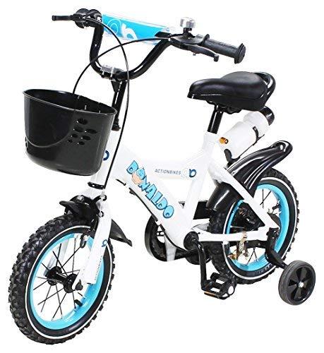 Actionbikes Kinderfahrrad Donaldo ab 3 - 9 Jahren 12 16 20 Zoll Grün Kinder Mädchen Jungen Fahrrad (12` Zoll)
