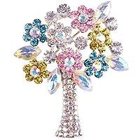 Da.Wa Broche Aleación Regalo para Navidad de Diseño de Flores de cristal árbol de Navidad