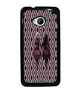 PrintDhaba Mirror Girl D-5734 Back Case Cover for HTC ONE M7 (Multi-Coloured)