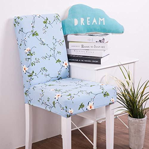 soroucuin store Stretch Chair Set Esszimmerstuhl Hotel Restaurant Restaurant Vier Jahreszeiten Stuhl Set 2er Pack, Bicao Blue Sky 40-50 -
